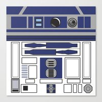 starwars Canvas Prints featuring R2D2 - Starwars by Alex Patterson AKA frigopie76