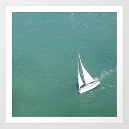 Sailing on the Bay Art Print