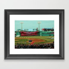 2014 Red Sox Opening Day - 2013 World Series Champions! Framed Art Print
