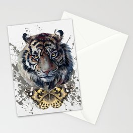 Tiger and Butterfly Stationery Cards