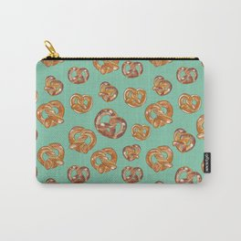 Pretzels on Mint Green _digital oil painting  Carry-All Pouch