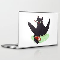 toothless Laptop & iPad Skins featuring Toothless by Flora