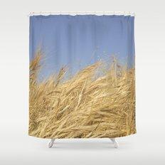 Golden Straw Shower Curtain
