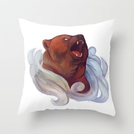 Mystic Grizzly Throw Pillow