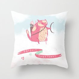Purrfect Together Throw Pillow