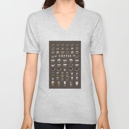 Coffee Chart Unisex V-Neck