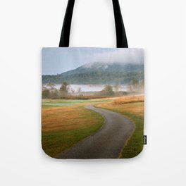 Misty Dawn Golf Course Tote Bag