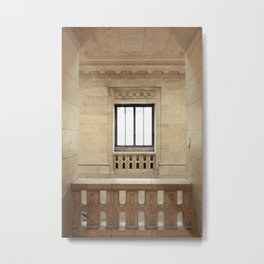 Inside the New York Public Library Metal Print