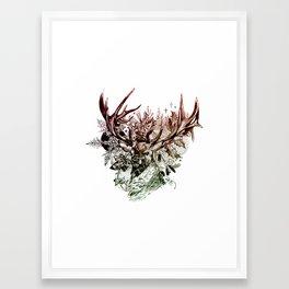 Seasonal Stag Framed Art Print