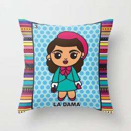La Dama Throw Pillow