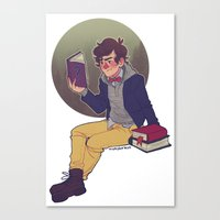 preppy Canvas Prints featuring preppy dipper by monsternist