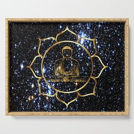 Gold funky Space Buddha Serving Tray