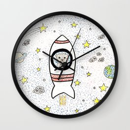 Otter space Wall Clock