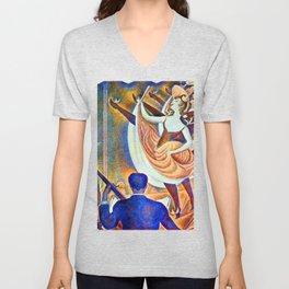 Georges Seurat Can Can Unisex V-Neck