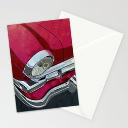 Classic Retro Car Art Series #1 in Gypsy Red Stationery Cards