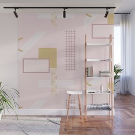 Light Pink Retro Abstract Wall Mural