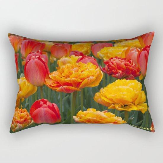 Scrumptious Tulips Rectangular Pillow
