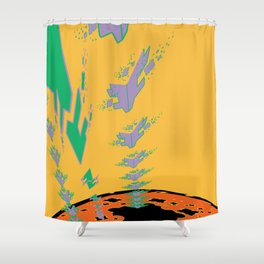 Sonic Invasion 3 Shower Curtain
