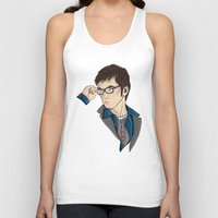 david tennant Tank Tops featuring Dr Who David Tennant by Hungry Designs