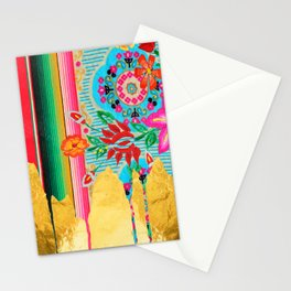 Gold Dipped Boho Serape Dream Stationery Cards