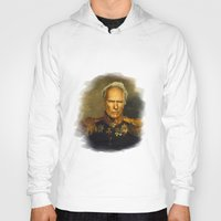 replaceface Hoodies featuring Clint Eastwood - replaceface by replaceface