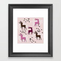 Valentine Deer Framed Art Print