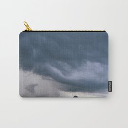Evening thunder storm and clouds over rural scene. West Acre, Norfolk, UK. Carry-All Pouch