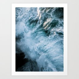 Wave in Ireland during sunset - Oceanscape Art Print