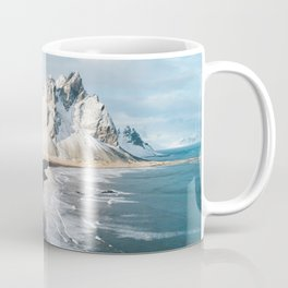 Iceland Mountain Beach - Landscape Photography Coffee Mug