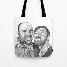 Karl Pilkington - Ricky Gervais, we need more of them! Tote Bag