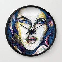 Pop Art Woman Wall Clock