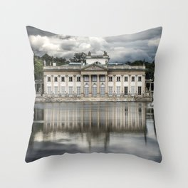 Pretty palace in Warsaw Throw Pillow