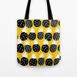 Black pineapple. Tote Bag