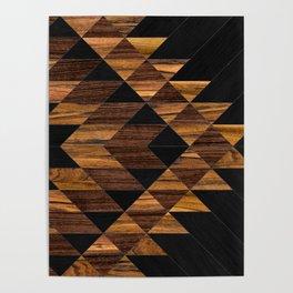Urban Tribal Pattern 11 - Aztec - Wood Poster
