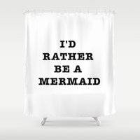 mermaid Shower Curtains featuring MERMAID by Trend