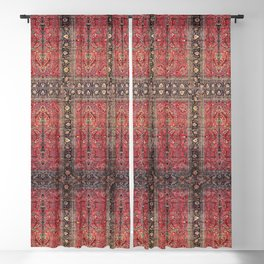 Antique Persian Red Rug Blackout Curtain