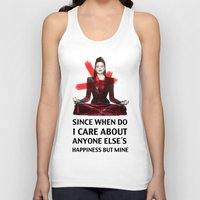 evil queen Tank Tops featuring Evil Queen Quotes by Geek World