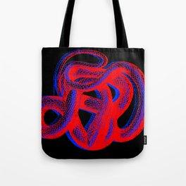 Snek 2 Snake Red Blue Tote Bag