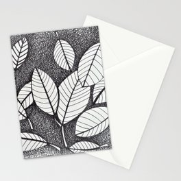 Floating Leaves Pen Drawing Stationery Cards