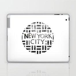 new york city typography illustration Laptop & iPad Skin