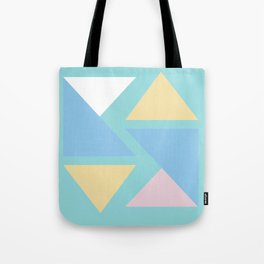 Triangle origami pastel pattern art Tote Bag