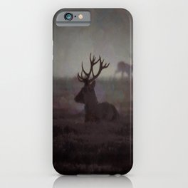 Silhouette Of A Highland Stag iPhone Case