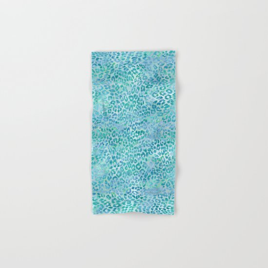 Blue Leopard Print Hand & Bath Towel