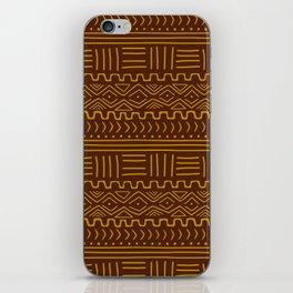 Mud Cloth on Brown iPhone Skin