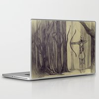 lotr Laptop & iPad Skins featuring Legolas LOTR - the noisy silence of woods by Blanca MonQnill Sole