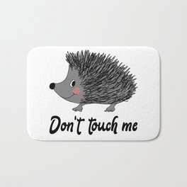 Hedgehog Don't Touch Me Nature Lovers Gift Bath Mat