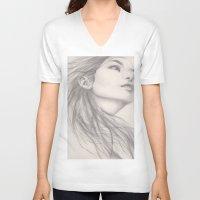 flight V-neck T-shirts featuring Flight by Autumn Chiu