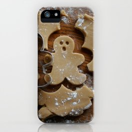 Gingerbread man iPhone Case