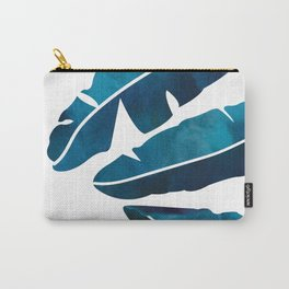 Indigo Banana Leaves Carry-All Pouch