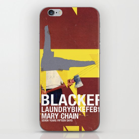 Mary Chain & Blacker band poster iPhone & iPod Skin